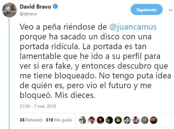 Nuevo disco de Juan Camus. Nueva portada mierder