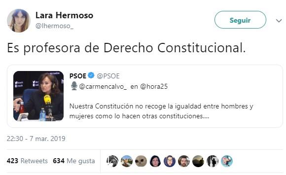 Carmen Calvo mintiendo