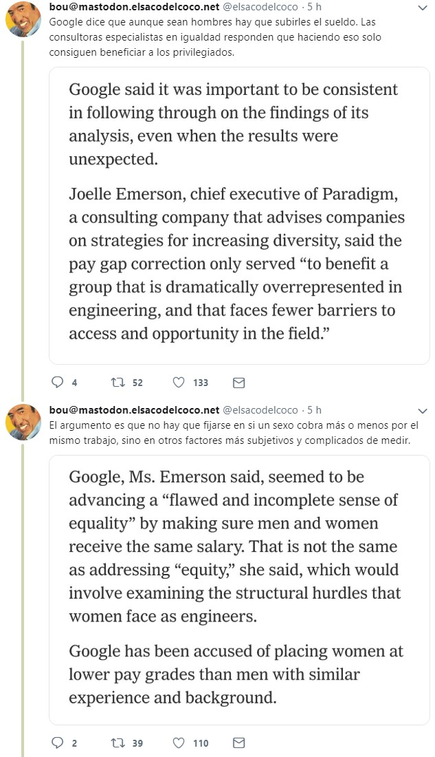 Google realiza un estudio sobre la brecha salarial y descubre que está pagando de menos a hombres