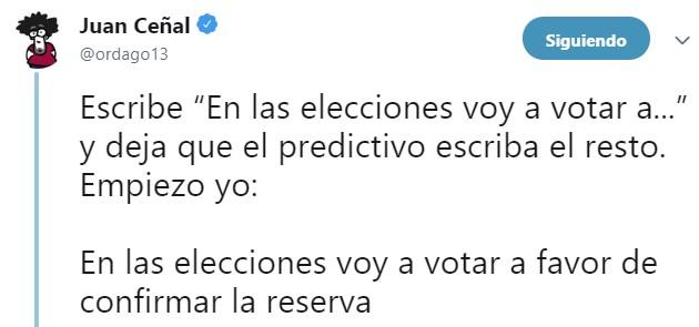 En las elecciones voy a votar a [texto predictivo]