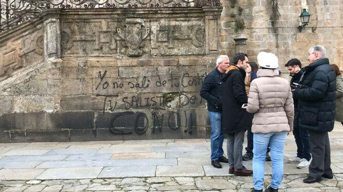 Pintadas en la Catedral de Santiago