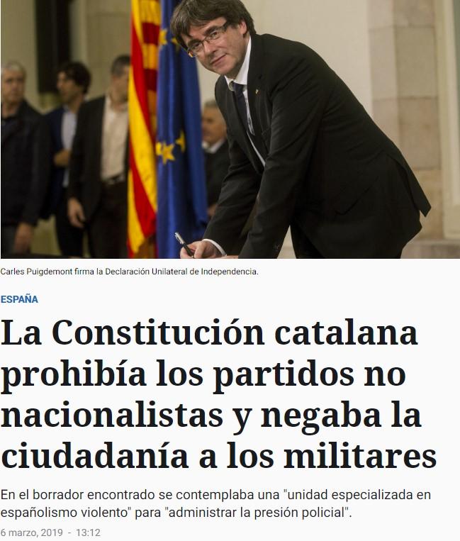 """Resulta que la constitución de la república catalana iba a ser aún más """"facha"""" que la española"""
