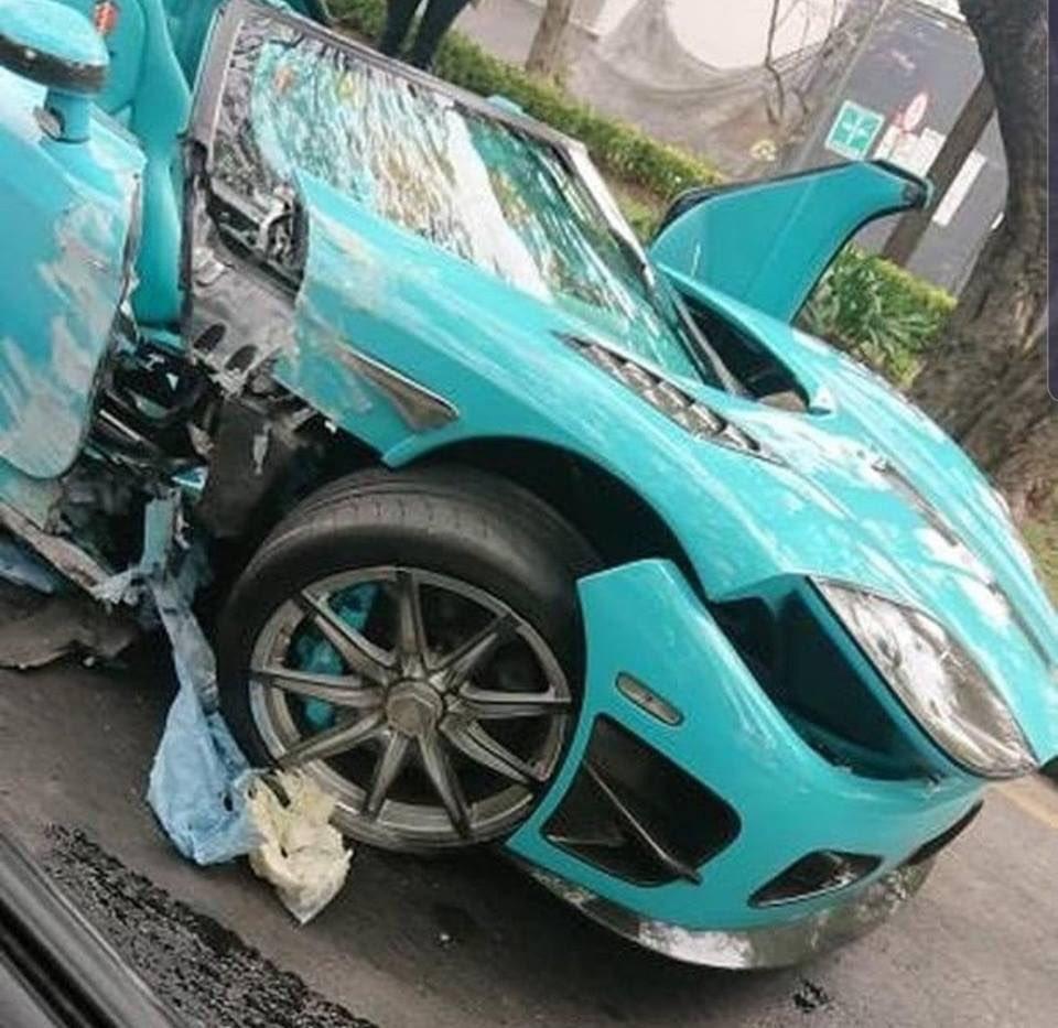 El Koenigsegg CCXR Special One es único en el mundo lo compró un mexicano por 1,5 millones y lo recibió en octubre de 2018. El dueño subía fotos y vídeos donde circulaba a alta velocidad a su cuenta de Instagram, hoy lo hizo pedazos