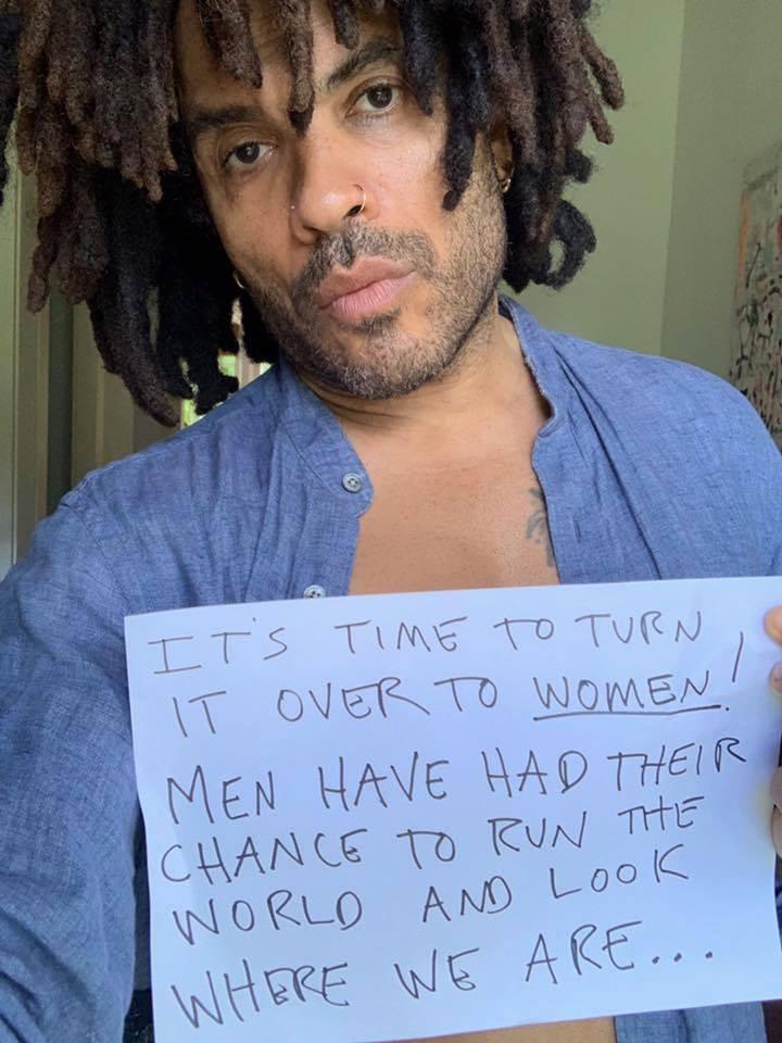 Lenny Kravitz también ha sucumbido a la babosa chupacerebros