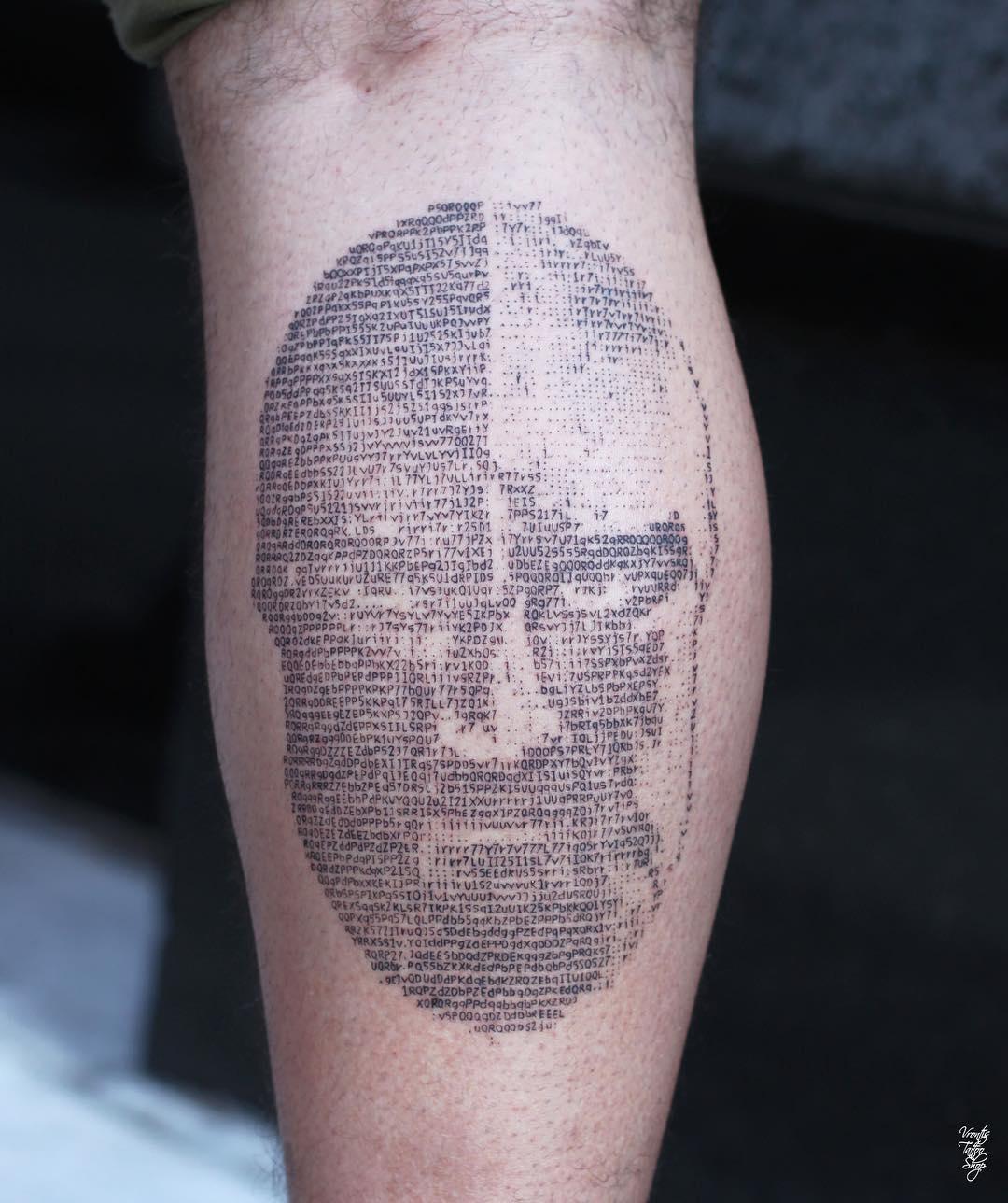 Actriz Porno Tatuaje Rebelion galería de tatuajes en código ascii – 3memes
