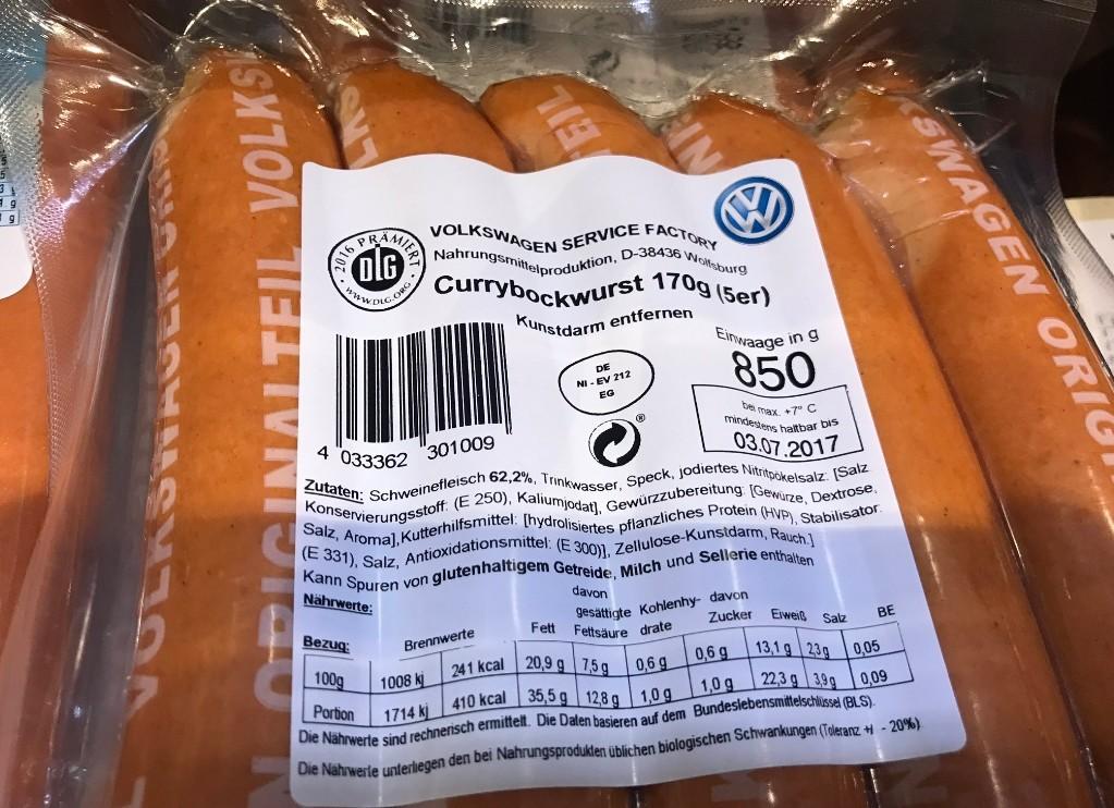 El producto más vendido de Volkswagen en 2017 no fue un coche: fue una salchicha 'currywurst'