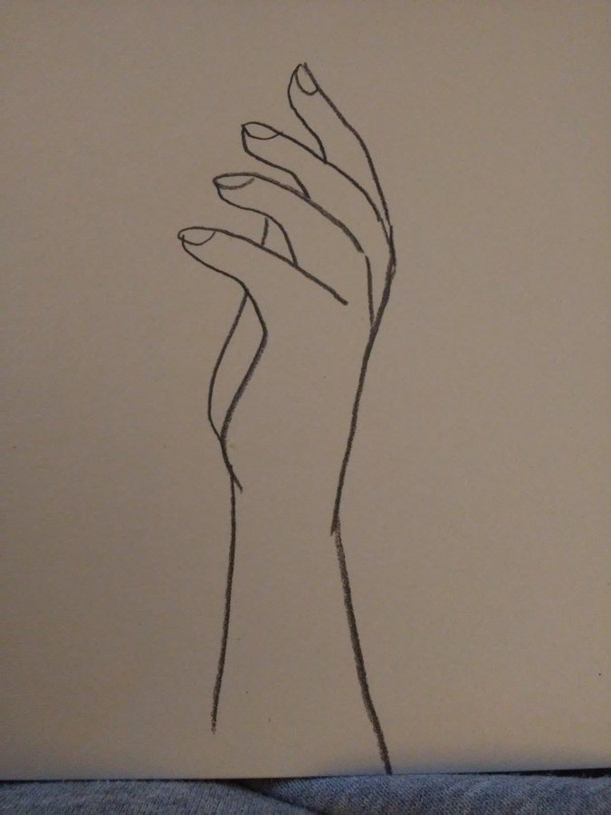 Cómo dibujar una mano