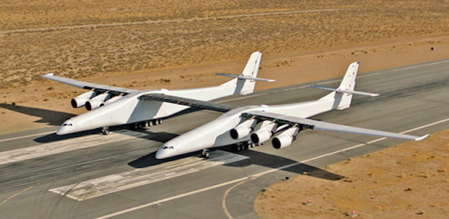 No, Matrix no se ha bugueado y no hay dos aviones colapsando. Es el avión más grande del mundo despegando por primera vez