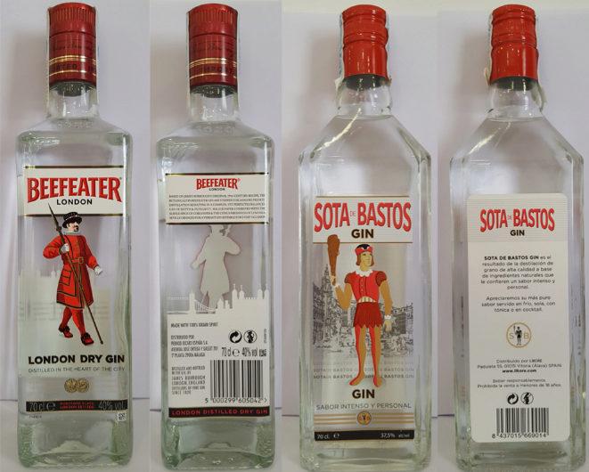 La ginebra española Sota de Bastos, condenada por imitar a Beefeater
