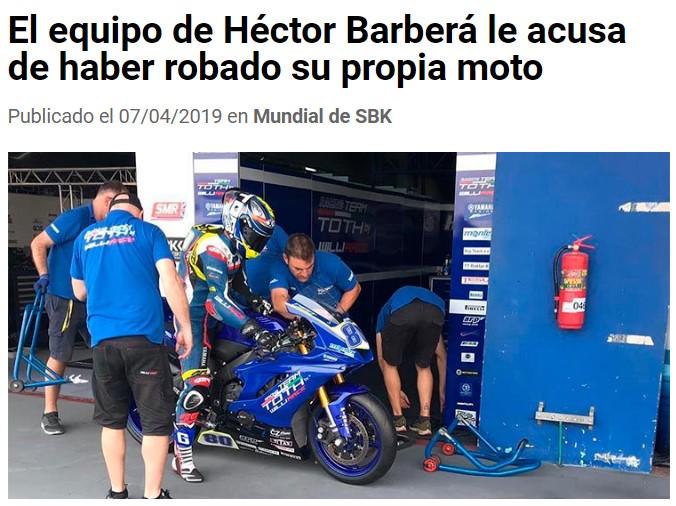 Parece que Barberá ha pasado del alcohol al fantástico mundo del hurto