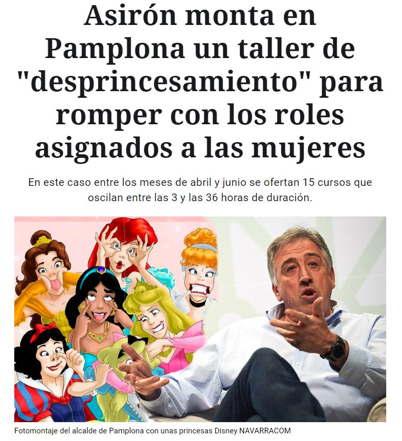 "Talleres de ""desprincesamiento"" en Navarra impartidos por Irantzu Varela."