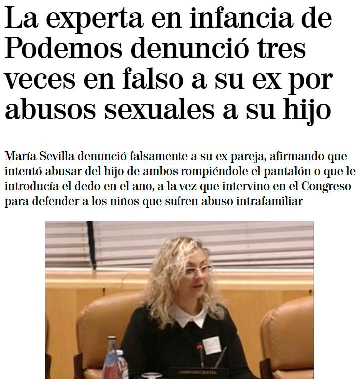 La responsable del desarrollo de una reforma contra el maltrato infantil de Podemos, denunciando 3 veces en falso y secuestrando a su hijo... ci ceñó