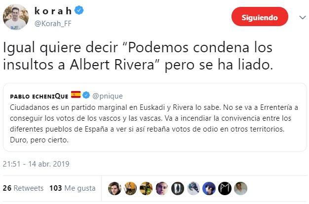 Rivera visita Rentería, un pueblo abertzale hasta la médula