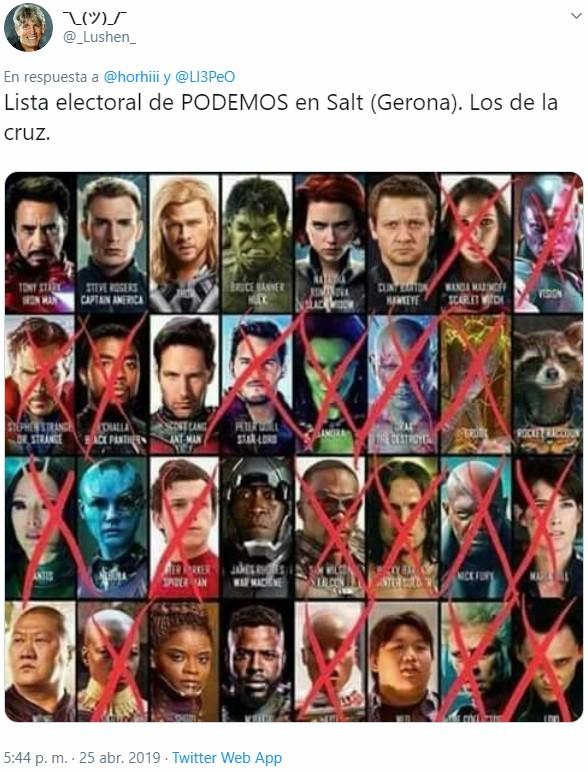 Lista electoral de PODEMOS en Salt (Gerona)