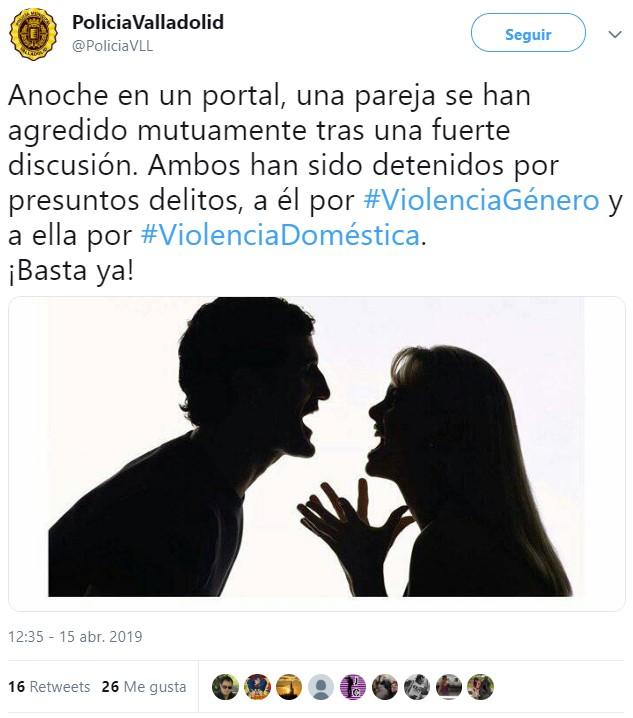 Policía machirula de Valladolid