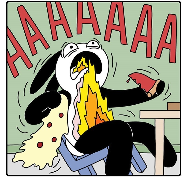 ¿Por qué el queso acumula tanto calor?