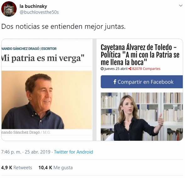 Cayetana está enviándole indirectas a Sanchez Dragó