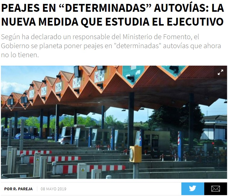 Ahora que teníamos por fin la AP1 Burgos-Vitoria gratis...