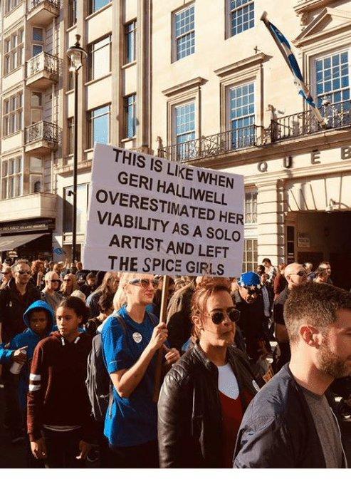 Es como cuando Geri Halliwell sobreestimó sus posibilidades como solista, y se fue de las Spice Girls.