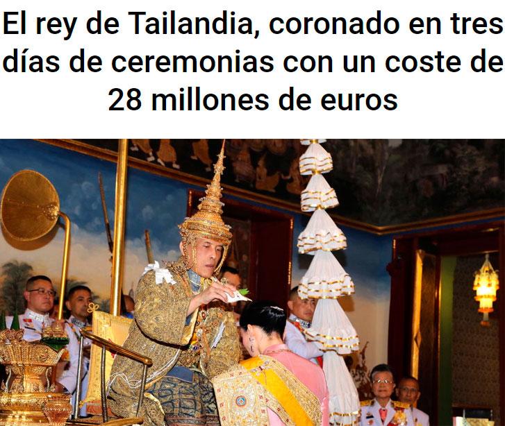 Su primera medida como rey: gastarse 28 millones en una fiesta 👌🏻