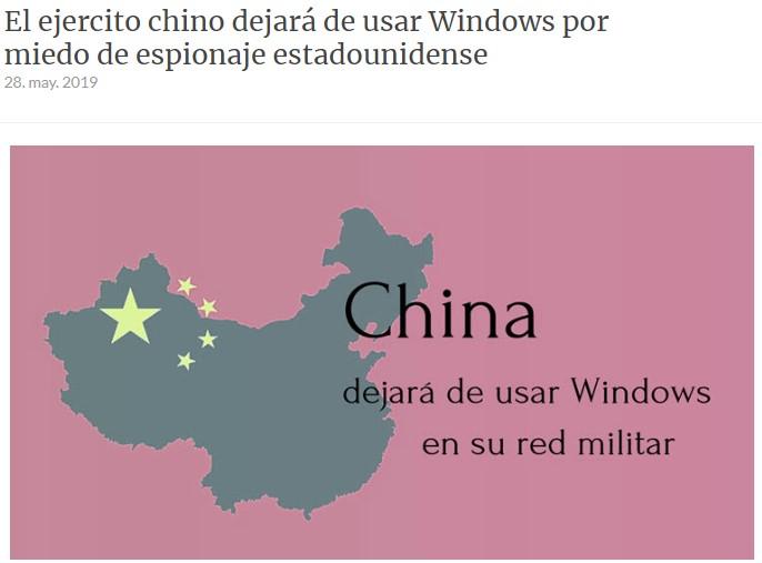 China contraataca