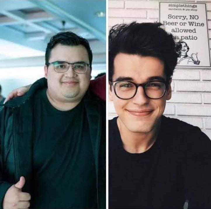 Este es Claudio. Pesaba 150 kilos y su novia Daniela le dejó por estar obeso.