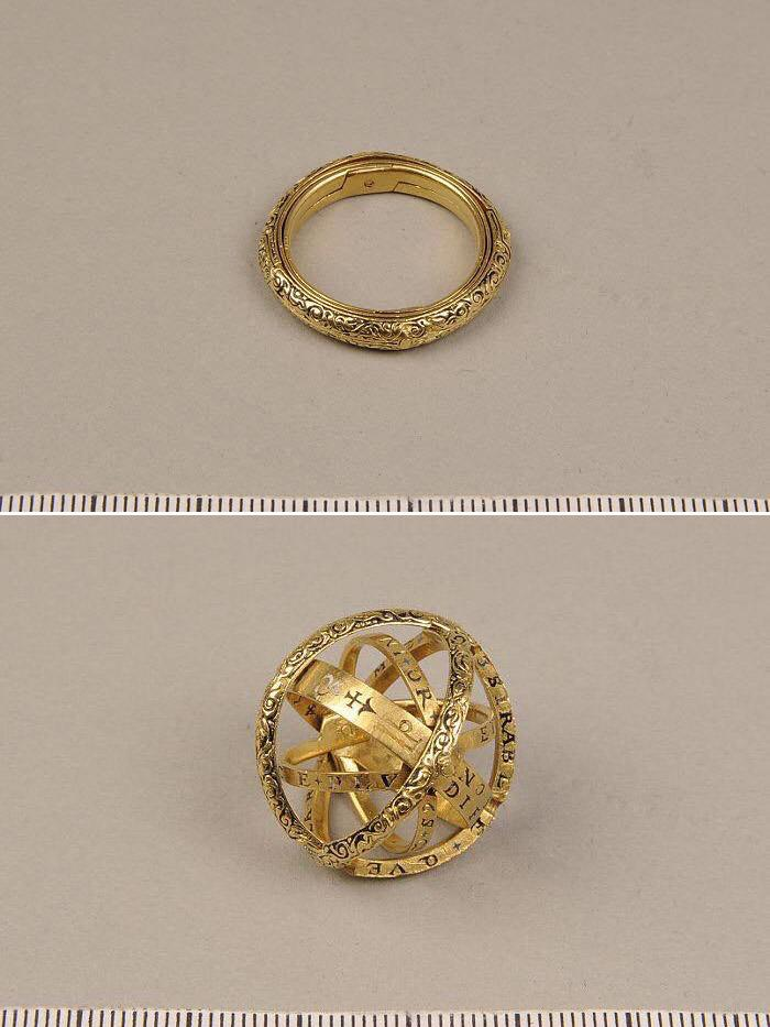 5260c5e75c32 Un anillo del siglo XVI que se convierte en esfera astronómica