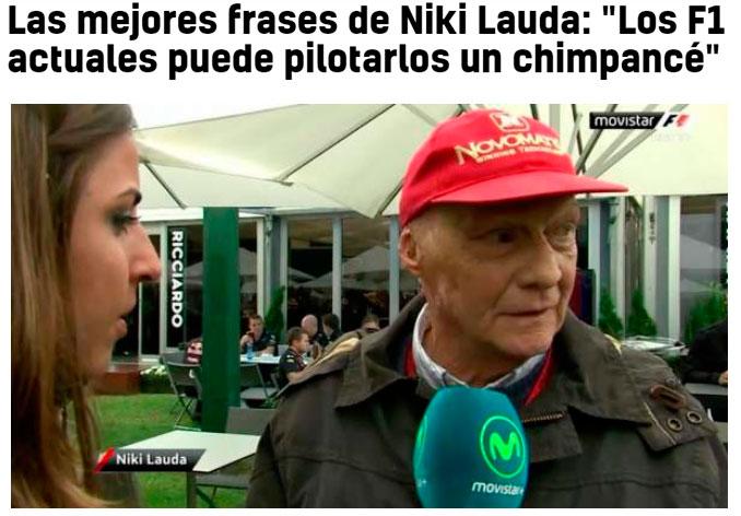 Muere Nicky Lauda a los 70 años