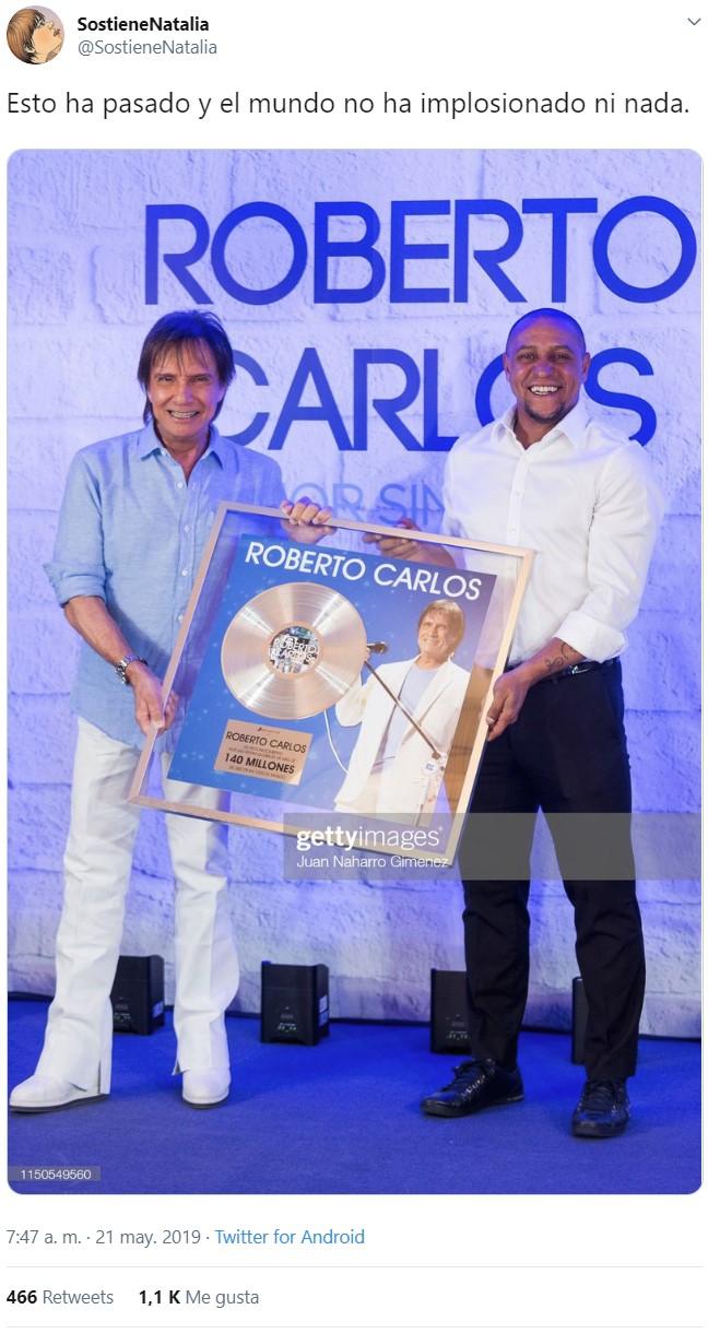 Roberto Carlos presidió el homenaje a Roberto Carlos.