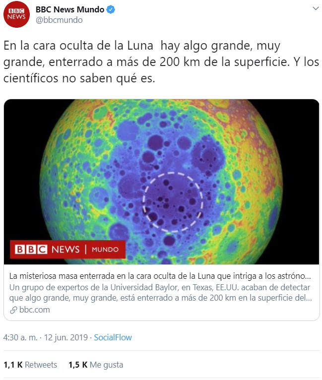 """Han encontrado """"movidas muy tochas"""" en la cara oculta de la Luna"""