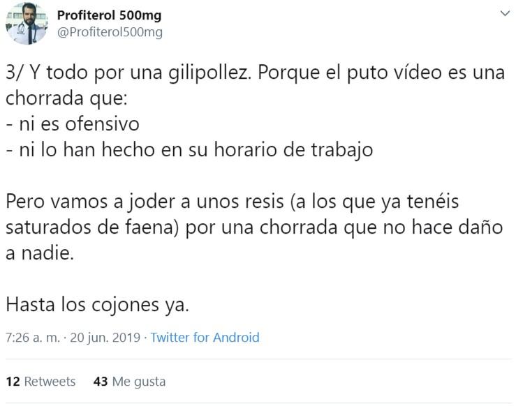 El vídeo por el que 4 residentes de Uroligía del HUCA podrían perder su plaza