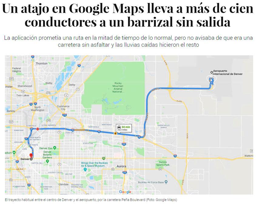Google Maps hace realidad Mad Max por un error en su generador de rutas