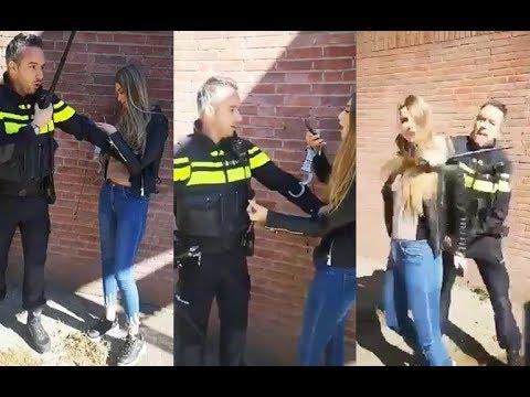 Policía holandés intenta detener a una adolescente