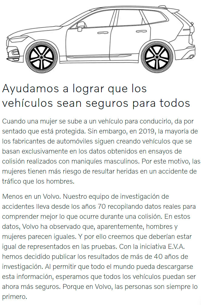 La iniciativa EVA de VOLVO: Equal Vehicles for All