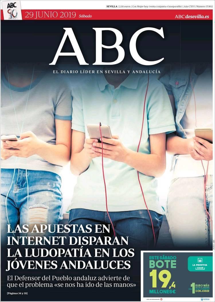 La portada de ayer del ABC parece una cajetilla de tabaco