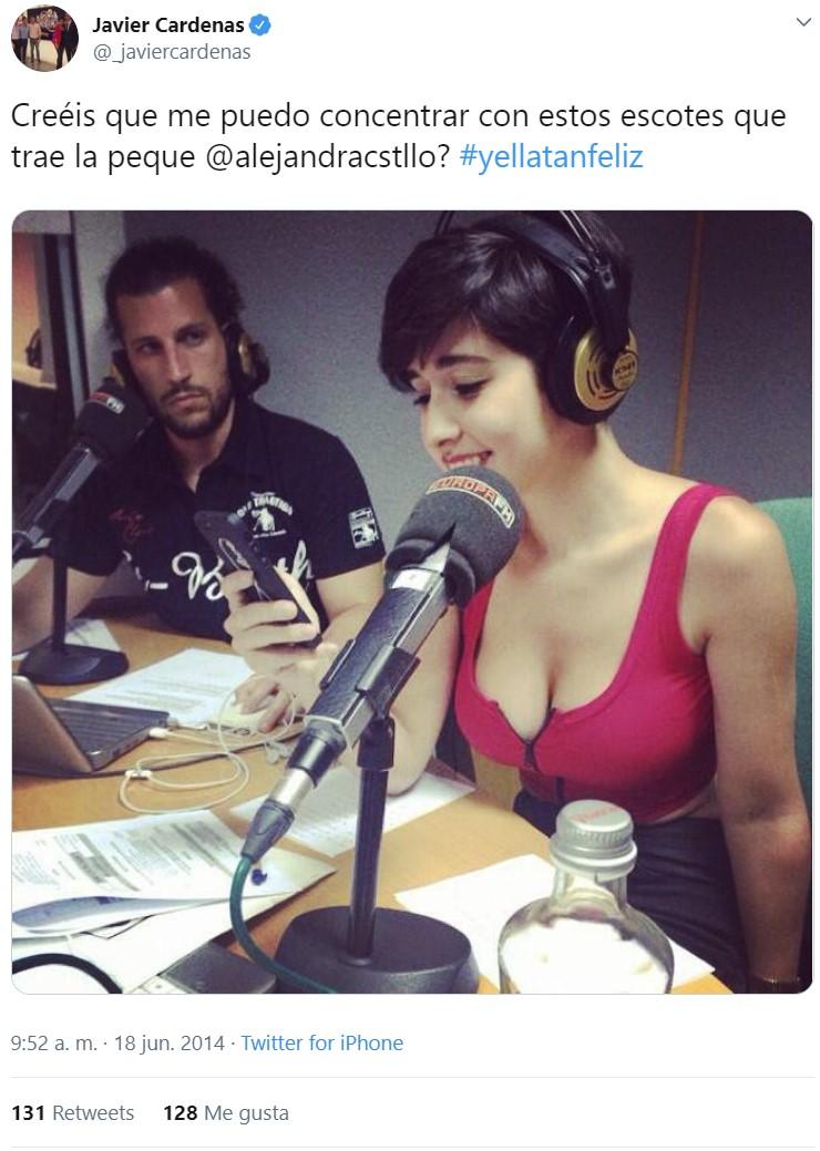 Un tuit de Cárdenas de 2014