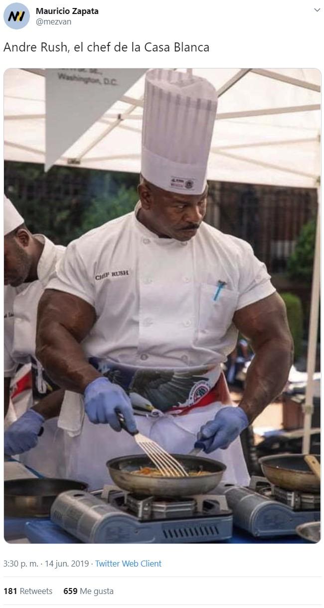 Con Andre Rush en la cocina nadie deja nada en el plato... por su bien