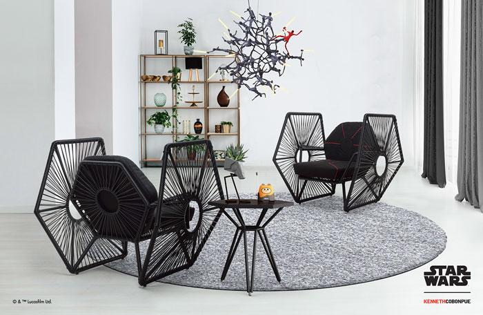 El diseñador filipino Kevin Cobonpue se ha asociado con Disney para presentar una línea de mobiliario de lujo inspirado en la Guerra de las Galaxias