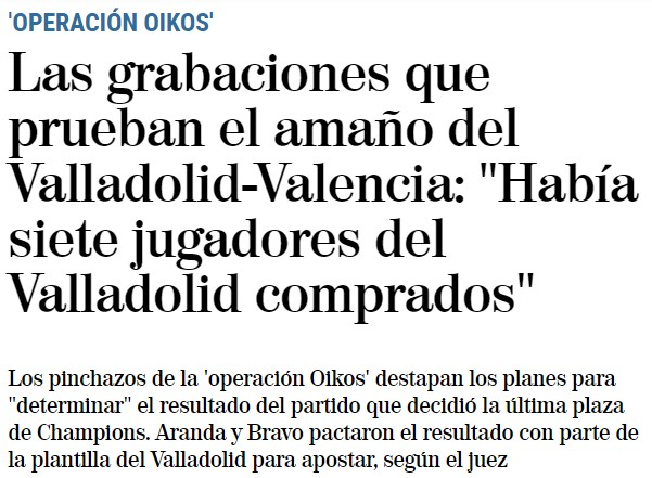 Pillote en el Valladolid