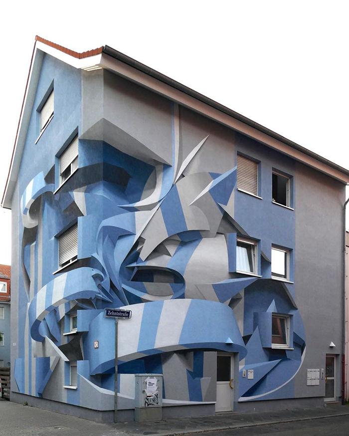 Estos son algunos de los trabajos de @peeta, el experto en graffitis 3D
