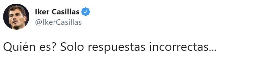 """Iker Casillas pide respuestas """"incorrectas""""... sale mal."""