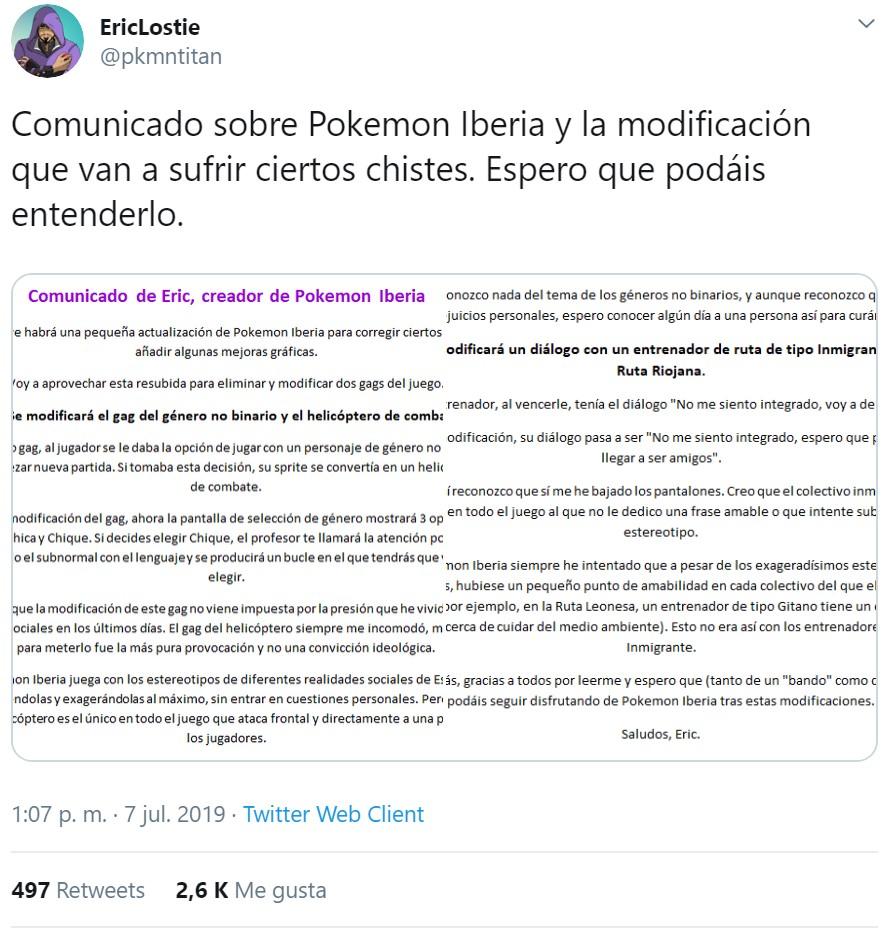 Pokémon Iberia: los ofendiditos lo han vuelto a hacer