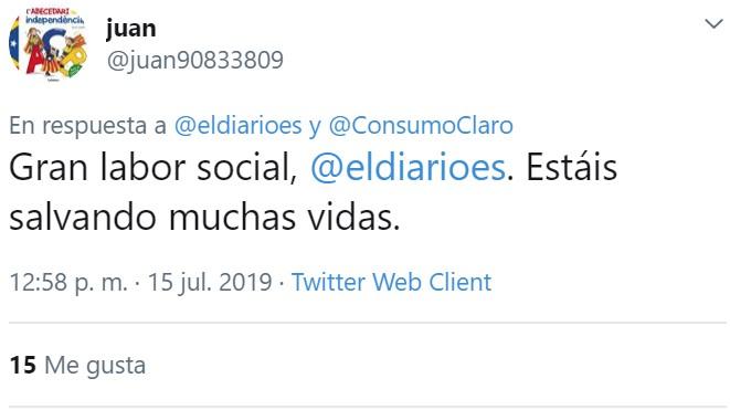Gracias a Eldiario.es por su labor social, salvándole la vida a sus lectores