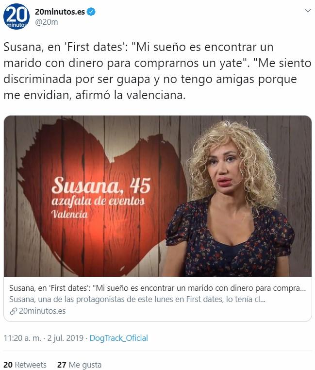 Qué desmejorada está Susana Grisom no?