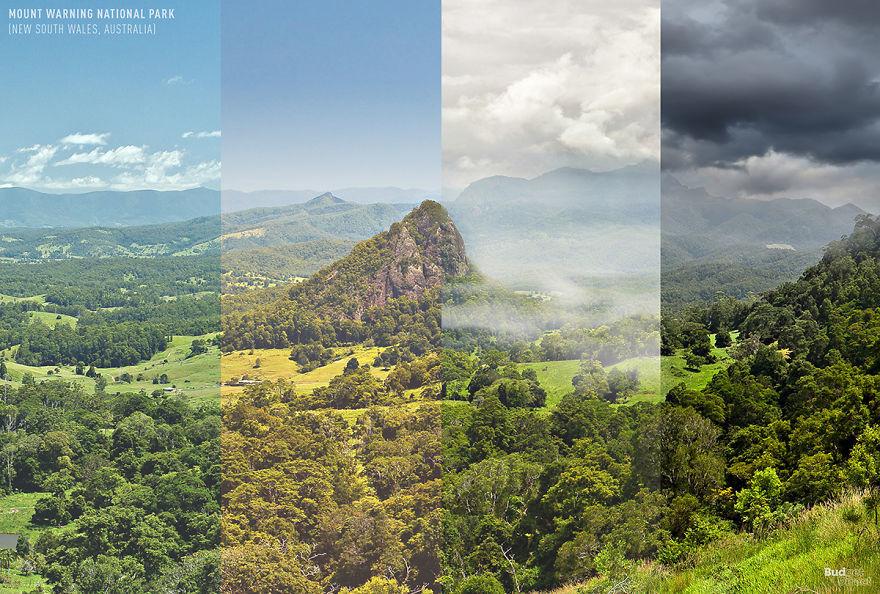 4 estaciones en 1 foto
