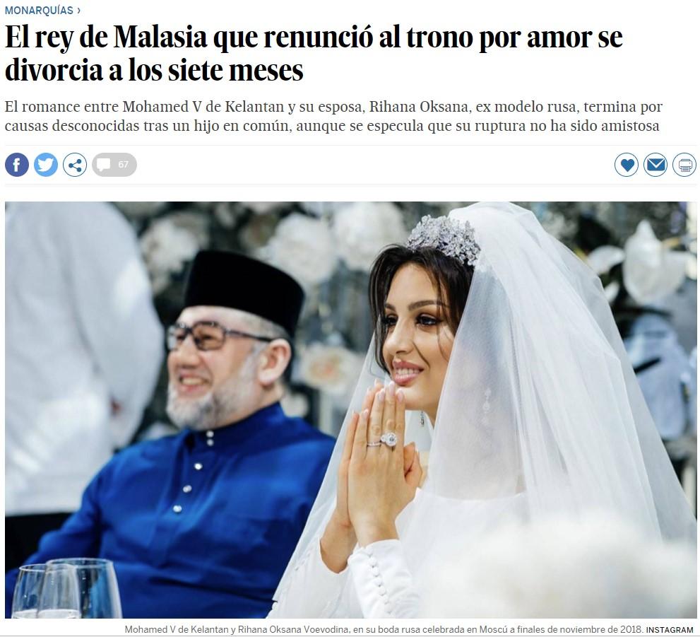 Renuncio a mi corona por casarme con una modelo rusa (sale mal)