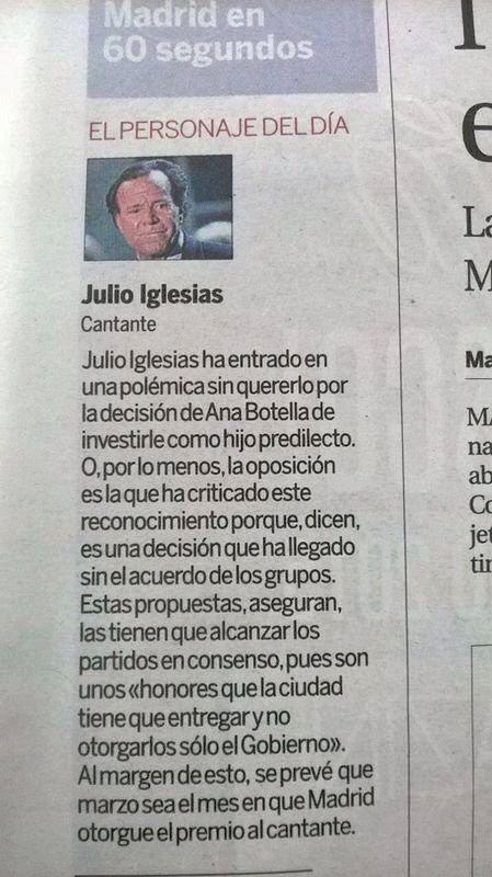 Para saber qué es un acróstico, lea la primera letra de cada línea. No dice nada de Javier Santos pero sí de Julio Iglesias...