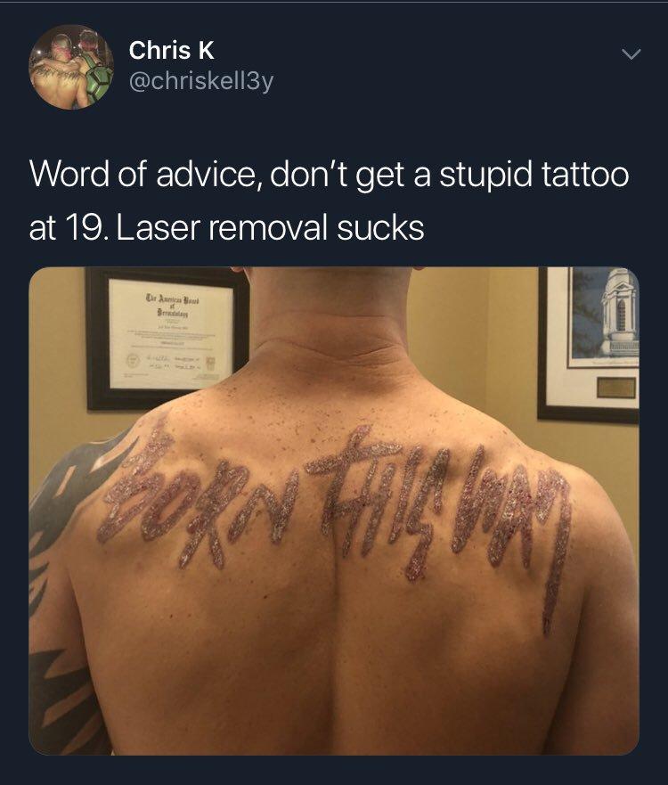 Vaya, parece que ese tatuaje no es la decisión de la que Chris más se arrepiente...