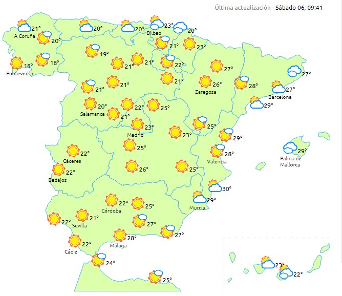 Hoy va a hacer buen tiempo en todo el país
