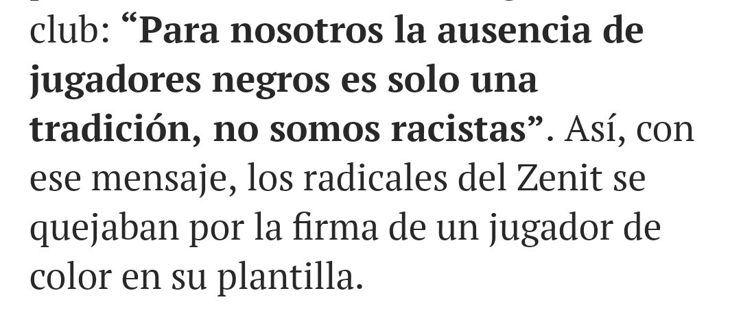 """No soy racista, son mis costumbres"""